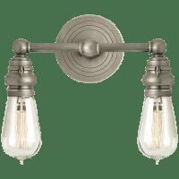 Boston Functional Double Light in Antique Nickel