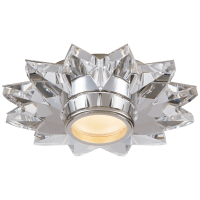 "Elora 7.25"" Solitaire Flush Mount in Crystal"
