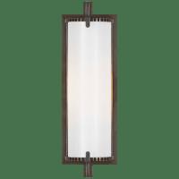 Calliope Short Bath Light in Bronze with White Glass
