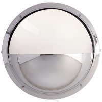Pelham Moon Light in Chrome with White Glass
