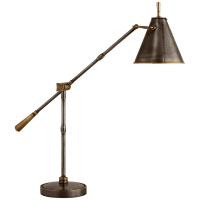 Goodman Table Lamp in Bronze and Hand-Rubbed Antique Brass