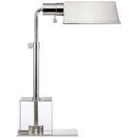 Jennings Pharmacy Table Lamp in Polished Nickel and Crystal