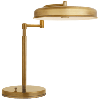 Huxley Swing Arm Desk Lamp in Hand-Rubbed Antique Brass