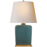 Mimi Table Lamp in Oslo Blue with Natural Paper Shade