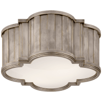 Tilden Small Flush Mount in Antique Nickel with White Glass