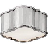 Tilden Small Flush Mount in Polished Nickel with White Glass