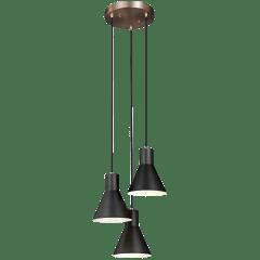 Towner Three Light Cluster Pendant Satin Brass Bulbs Inc
