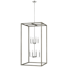 Moffet Street Extra Large Eight Light Hall / Foyer Washed Pine