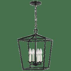 Dianna Four Light Small Lantern Midnight Black