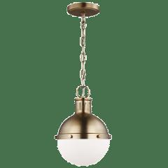 Hanks One Light Mini Pendant Satin Brass