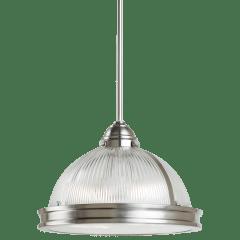 Pratt Street Prismatic Two Light Pendant Brushed Nickel Bulbs Inc