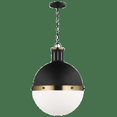 Hanks One Light Large Pendant Midnight Black Bulbs Inc