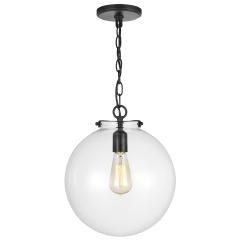 Kate One Light Sphere Pendant Midnight Black Bulbs Inc