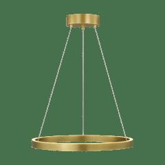 "Fiama 24 Suspension 24"" Diameter plated brass 3000K 90 CRI led 90 cri 3000k 120v-277v unv"