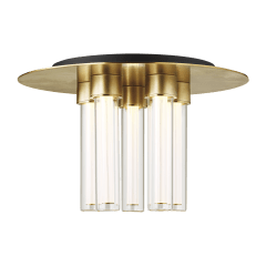 Kola 13 Flush Mount Natural Brass 2700K 90 CRI Integrated LED 90 CRI 2700K 120v