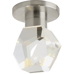 Sopra Flush Mount Faceted Crystal satin nickel 3000K 90 CRI led 90 cri 3000k 120v