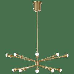Lody 20-Light Chandelier 20-LIGHT aged brass 3000K 90 CRI integrated led 90 cri 3000k 120v-277v unv (t20/t24)