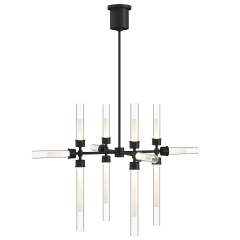 Linger 12-Light Chandelier 12-Light Chandelier nightshade black 3000K 90 CRI integrated led 90 cri 3000k 120v