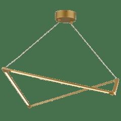 Balto Linear Suspension satin gold 3000K 90 CRI integrated led 90 cri 3000k 120v (t24)