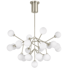 Mara Chandelier White Satin Nickel 2700K 90 CRI  led 90 cri 2700k 120v
