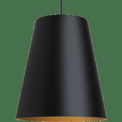 Gunnar Pendant Black/Satin Gold No Lamp
