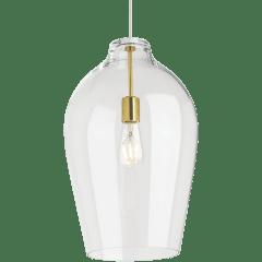 Prescott Pendant Clear Natural Brass No Lamp