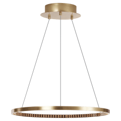 "Vellavi 24 Chandelier 24"" Diameter natural Brass 2200K 90 CRI integrated led 90 CRI 2200k 120v-277v"
