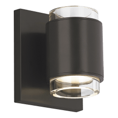 Voto Wall Round Clear black 3000K 80 CRI led 80 cri 3000k 120v
