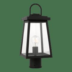 Founders One Light Outdoor Post Lantern Black