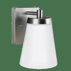 Renville Small One Light Outdoor Wall Lantern Satin Aluminum