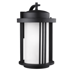 Crowell Large One Light Outdoor Wall Lantern Black