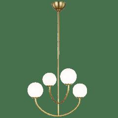 Galassia Four Light Chandelier Burnished Brass