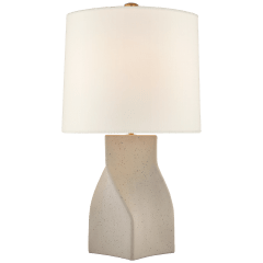 Claribel Large Table Lamp in Canyon Gray with Linen Shade