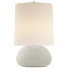 Sumava Medium Table Lamp in Marion White with Linen Shade