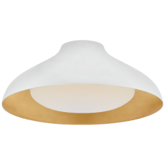 "Agnes 18"" Flush Mount in Plaster White with Soft White Glass"