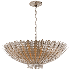 Hampton Large Chandelier in Burnished Silver Leaf