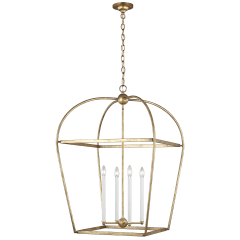 Stonington Large Lantern Antique Gild