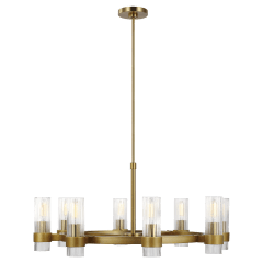 Geneva Chandelier Burnished Brass