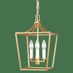 Southold Mini Lantern Burnished Brass