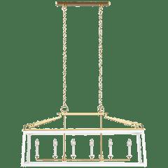 Carlow Linear Lantern Matte White