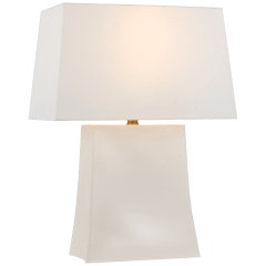Lucera Medium Table Lamp in Ivory with Linen Shade