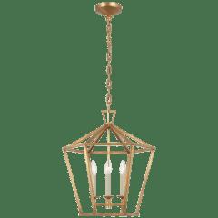 Darlana Medium Hexagonal Lantern in Gilded Iron