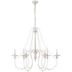 Umbria Chandelier in Belgian White