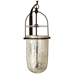 Lorford Medium Sconce in Aged Iron with Antiqued Mercury Glass