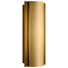 Jensen Small Wall Wash Sconce in Antique-Burnished Brass