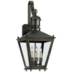 Sussex Small Bracket Lantern in Bronze