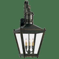 Sussex Medium Bracket Lantern in Bronze