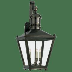 Sussex Large Bracket Lantern in Bronze