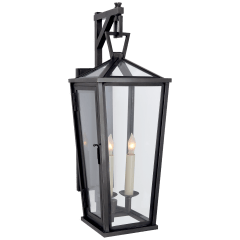 Darlana Small Tall Bracketed Wall Lantern in Bronze