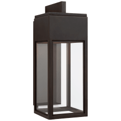 Irvine Medium Bracketed Wall Lantern in Bronze with Clear Glass
